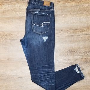 American eagle high rise jeggings faux distressed